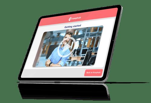 training video tablet